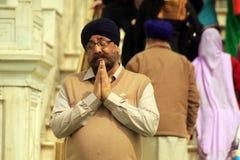 Praying Sikh in Amritsar. Sikh in front of Golden Temple in Gloden Temple in Amritsar Stock Images