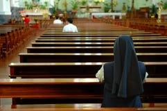 Praying sister Royalty Free Stock Images