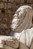 Praying statue Benedictine Monastary, Hvar Croatia Stock Photography