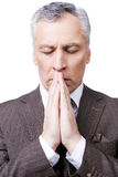 Praying for success. Royalty Free Stock Images
