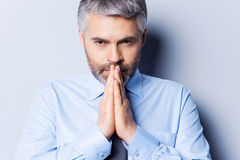 Praying for success. Royalty Free Stock Photography