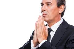 Praying for success. Royalty Free Stock Image