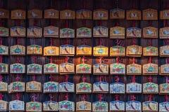 Praying tablets at Fushimi Inari shrine Stock Photo