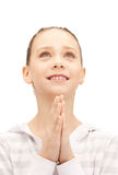 Praying teenage girl Royalty Free Stock Photo