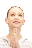 Praying teenage girl Royalty Free Stock Photos