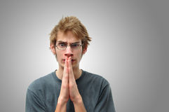 Praying teenager Royalty Free Stock Image