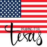 Praying for Texas Royalty Free Stock Photo