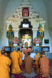 Praying at Thatbyinnyu Temple    ,  Bagan in Myanmar (Burmar) Royalty Free Stock Photos