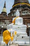 Praying to Buddha stock photo