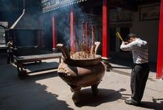 Praying in Vietnam Royalty Free Stock Photography
