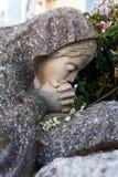 Praying stone virgin Royalty Free Stock Photo