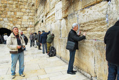 Praying at the Wailing Wall Jerusalem Stock Photos