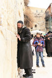 Praying at the wall of Jerusalem Stock Image