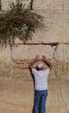 Praying at the Western Wall Stock Photos