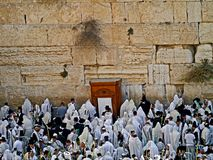Praying at the Western Wall Royalty Free Stock Image