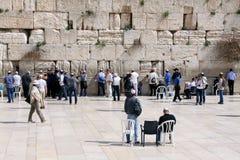 Praying at the Western Wall, Israel Royalty Free Stock Photo