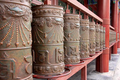 Praying wheels of Buddhist of Tibetan Royalty Free Stock Images