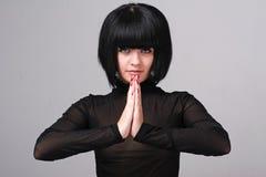 Praying woman royalty free stock image