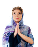 Praying woman Stock Photography