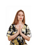 Praying woman. Royalty Free Stock Photos
