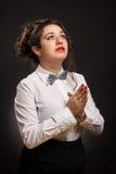 Praying woman Stock Image