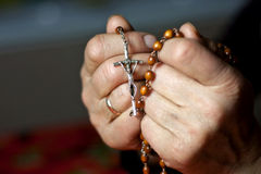 Praying woman hands Stock Image