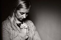 Praying woman. Royalty Free Stock Image