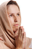 Praying woman Stock Photo