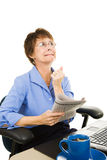 Praying for Work Royalty Free Stock Image