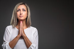 Praying young woman Royalty Free Stock Photography