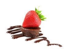 Prazer do chocolate Imagens de Stock