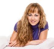 Prazer na cama Fotografia de Stock