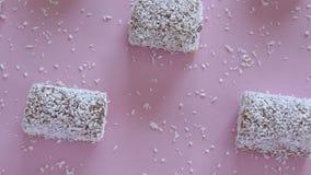 Prazer oriental do açúcar Ainda fotografia do alimento da vida Lokum - loukoum tradicional vídeos de arquivo