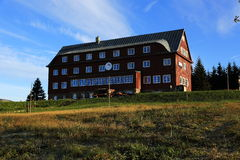 Prazska cottage, Pec pod Snezkou, the giant mountains (czech: Krkonose, Pec pod Snezkou), the northern part of the Czech Republic Royalty Free Stock Photo