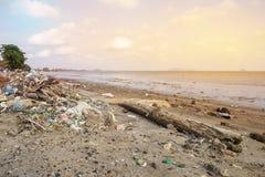 Prblem ambiental em Tailândia foto de stock