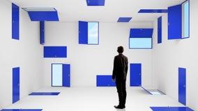 Próbować znajdować wyjście Mieszani środki Mieszani środki Obraz Stock