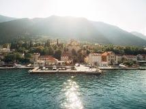 Prcanj, Montenegro a baía de Kotor Igreja da natividade de t fotografia de stock royalty free