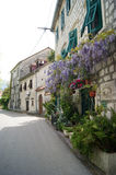 In Prcanj. Street in the village of Prcanj, Montenegro Stock Photo