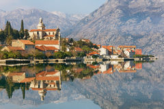 Prcanj town. Montenegro Royalty Free Stock Images