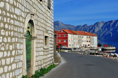 Prcanj village in Kotor bay, Montenegro Royalty Free Stock Photography