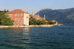 Prcanj village Montenegro Royalty Free Stock Images