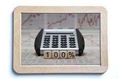 prcent 100 Royalty-vrije Stock Afbeeldingen