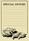 prcie цыплятины доски Стоковое Изображение