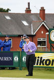 Práctica abierta del golf 2012 de la 9na te de Tom Watson redonda Foto de archivo libre de regalías