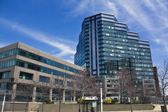 Prédios de escritórios em Cleveland Fotografia de Stock Royalty Free