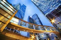 Prédios de escritórios em Hong Kong Imagens de Stock Royalty Free