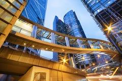 Prédios de escritórios em Hong Kong Fotos de Stock
