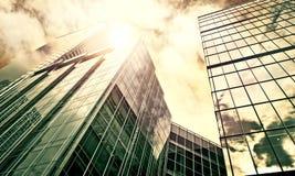 Prédios de escritórios modernos Imagens de Stock Royalty Free