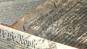 preámbulo de la Declaración de Derechos de 4k Estados Unidos a la constitución y a la bandera americana stock de ilustración
