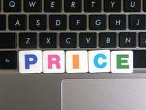 Preço da palavra do fundo do teclado foto de stock royalty free